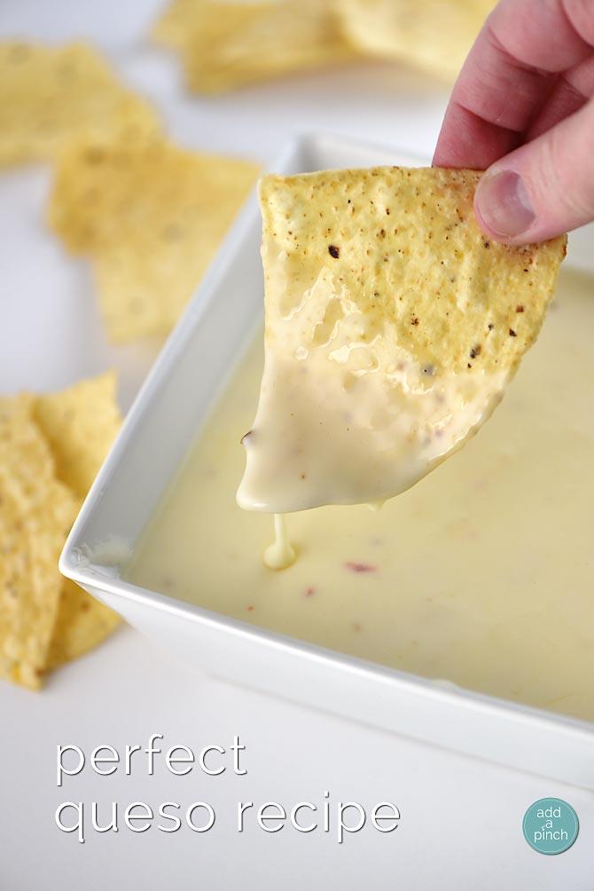 Perfect Queso Recipe from addapinch.com
