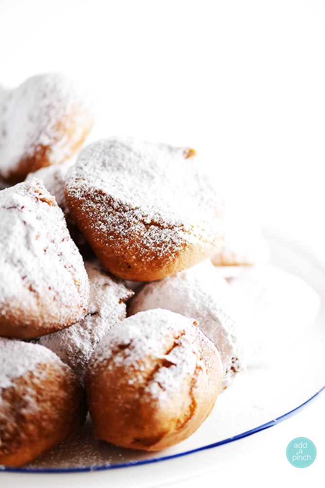 Beignets Recipe from addapinch.com
