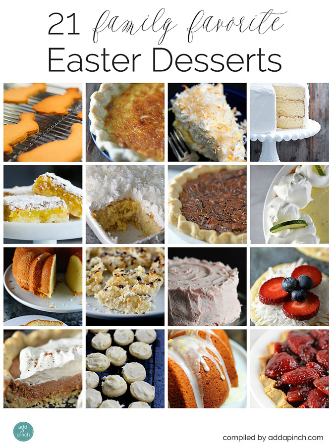 21 Easter Dessert Recipes from addapinch.com