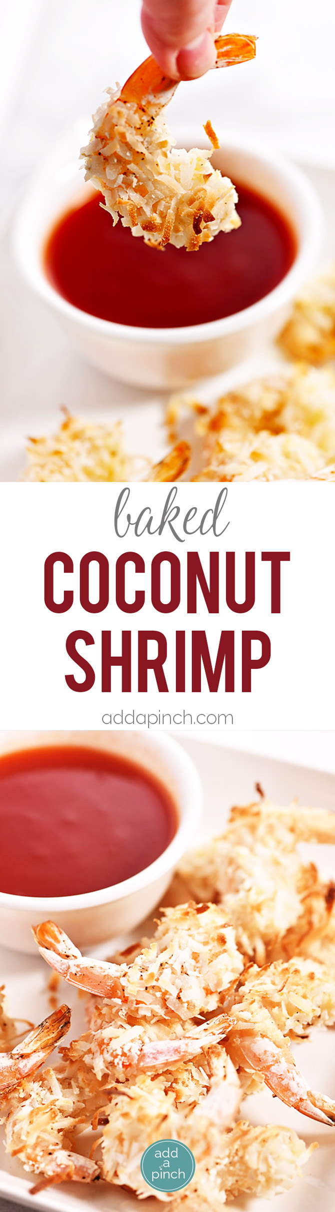 Baked Coconut Shrimp - Coconut shrimp is always a restaurant favorite, but this simple recipe couldn't be easier for delicious baked coconut shrimp at home! // addapinch.com