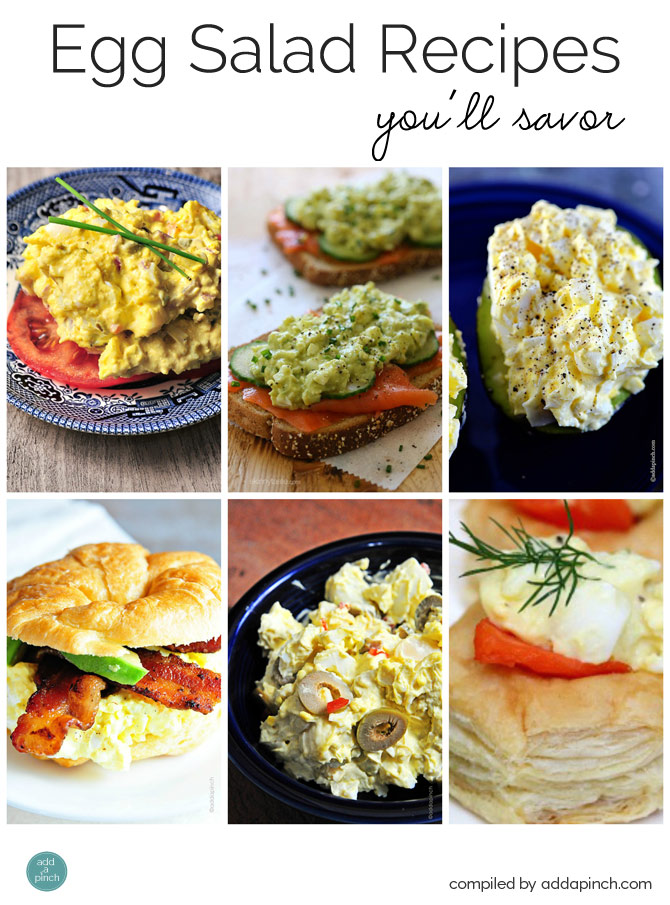 Egg Salad Recipes You'll Savor from addapinch.com