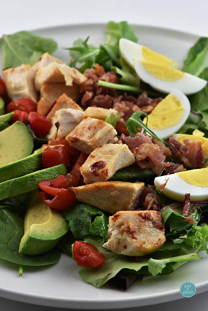 Roast Chicken Cobb Salad from addapinch.com