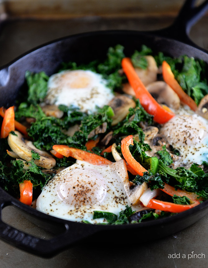 Kale Breakfast Skillet Recipe from addapinch.com