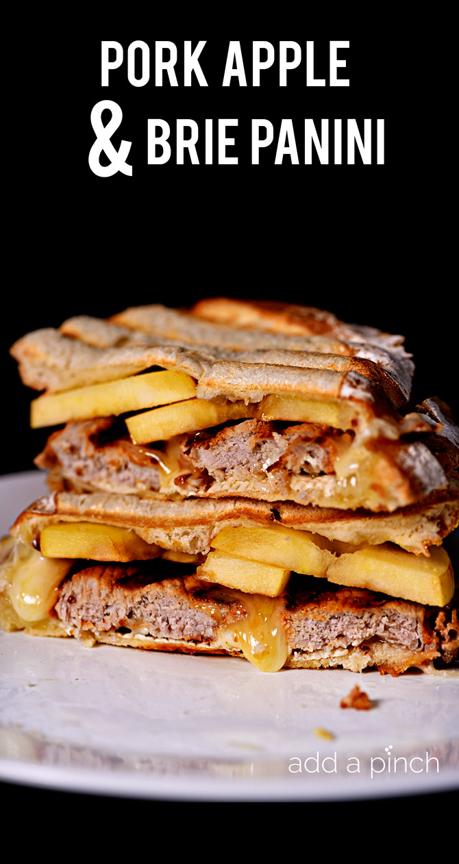 Pork Apple and Brie Panini makes a quick and easy weeknight meal the whole family will love! // addapinch.com