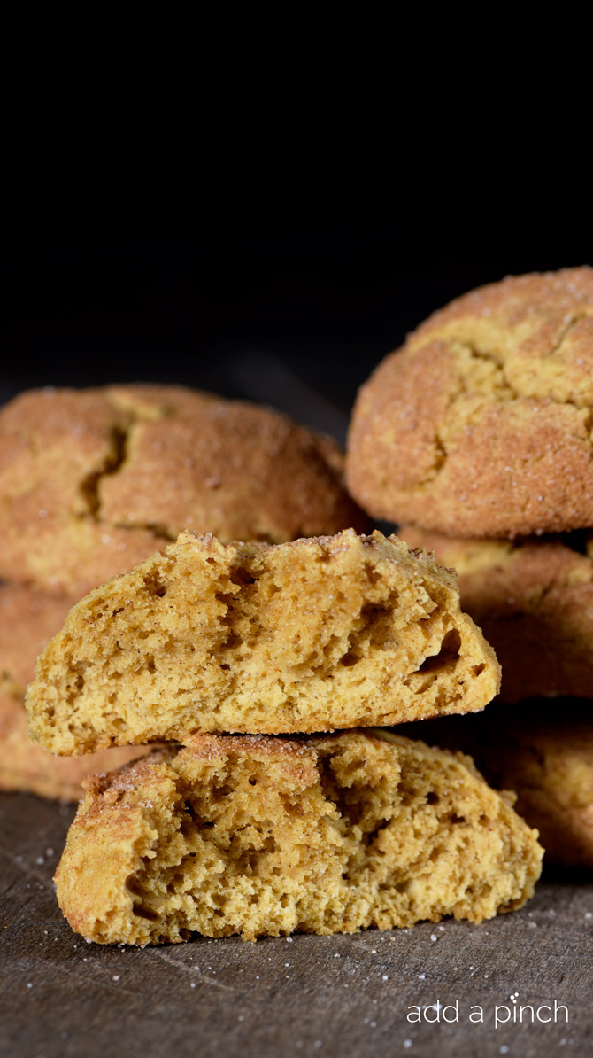 Pumpkin Snickerdoodles make the perfect soft, chewy and delicious cookie for fall! // addapinch.com