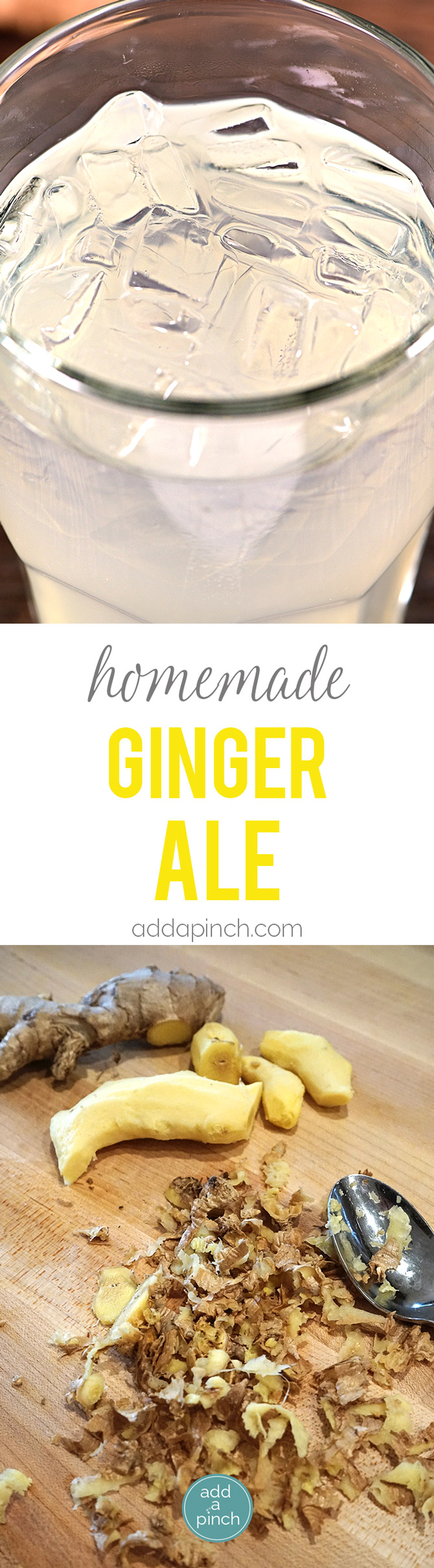 Homemade Ginger Ale - This Homemade Ginger Ale recipe takes a few ...
