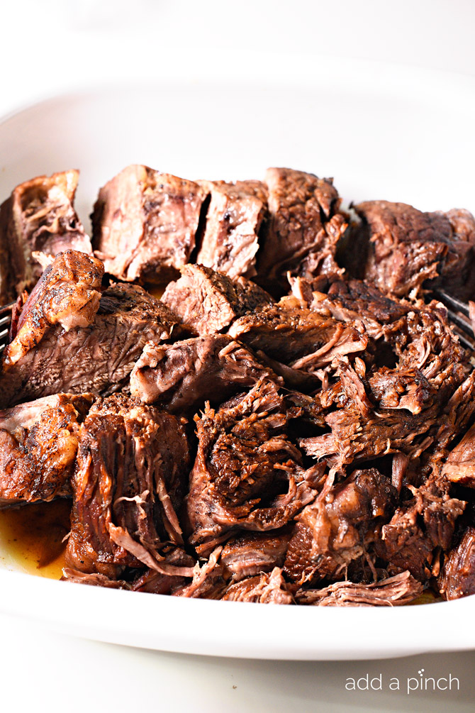 Pressure Cooker Balsamic Beef Recipe - Balsamic Roast Beef makes a favorite, flavorful meal. This pressure cooker balsamic roast beef is ready and on the table in under an hour! // addapinch.com