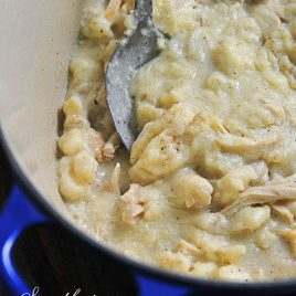 Southern Chicken and Dumplings Recipe - Chicken and Dumplings make a delicious, comforting meal that your family will love. This southern chicken and dumplings recipe is a must-make. // addapinch.com