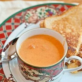 Chunky Tomato Basil Soup Recipe | Add a Pinch