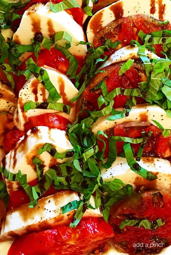 Caprese Salad Recipe With Balsamic Glaze Add A Pinch