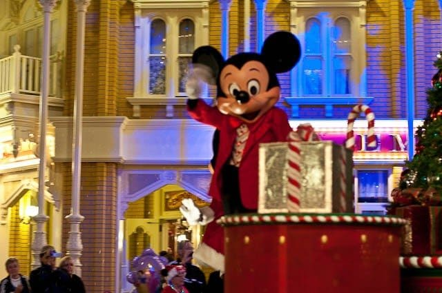 on certain evenings during - Disney During Christmas