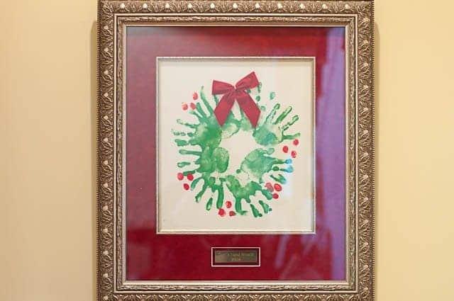 Christmas Hand Wreath Craft - Add a Pinch