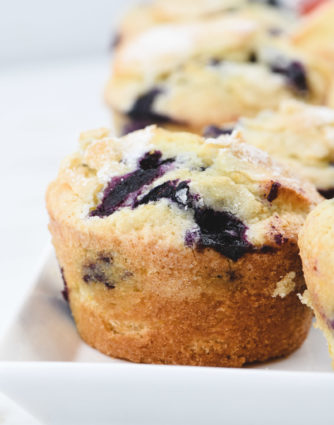 Blueberry Muffins make one of my favorite muffin recipes to make for a quick, easy breakfast, brunch or snack. They are always delicious and one of the things I can depend on my family devouring. // addapinch.com