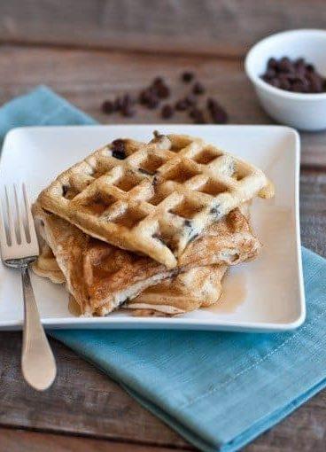Chocolate Chip Waffles // addapinch.com