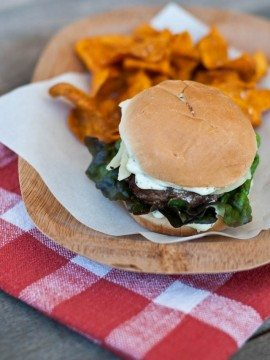 Hamburger Sliders with a Spicy Cilantro Lime Spread