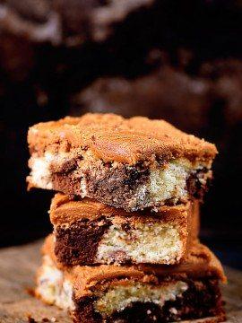 Chocolate Marble Squares Cake Recipe