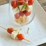 Simple Caprese Salad Skewers
