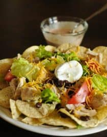 Chicken Nacho Salad | ©addapinch.com