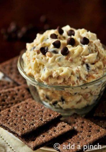 Cookie Dough Dip Recipe from addapinch.com