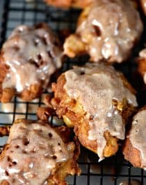 Apple fritters make a favorite fall sweet treat! These apple fritters use Granny Smith apples for a delicious combinations of sweet and tart! // addapinch.com