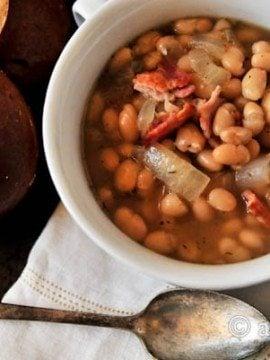 White Bean Soup with Bacon Recipe