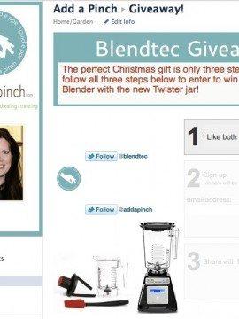 Blendtec Total Blender with Twister Jar Giveaway