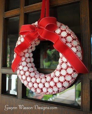 Peppermint Candy Wreath Tutorial