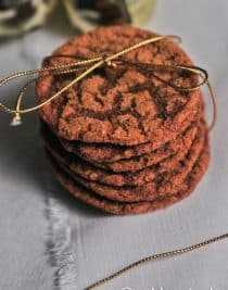 Ginger Molasses Cookie Recipe from addapinch.com