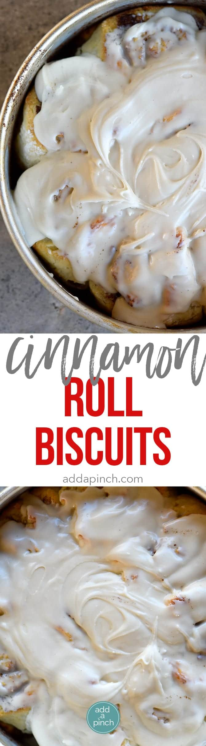 Cinnamon Roll Biscuits Recipe - Cinnamon Roll Biscuits have all the deliciousness of a cinnamon roll with the ease of a biscuit! // addapinch.com