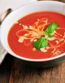 Tomato Soup comes together quickly for a delicious, comforting classic. Ready in 15 minutes! // addapinch.com