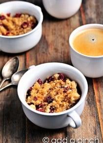 Bruleed Cherry Oatmeal Recipe