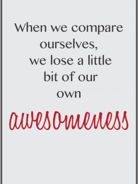 the one about comparing yourself {Mingle Monday}