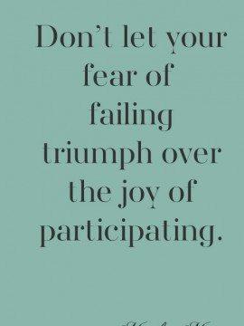 Fear of Failing {Mingle Monday}