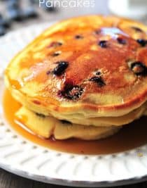 Lemon Blueberry Pancakes make a delicious breakfast or brunch anytime of the year!