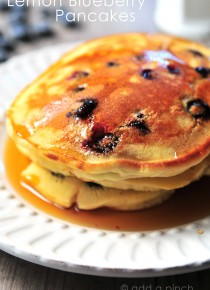 Lemon Blueberry Pancakes Recipe