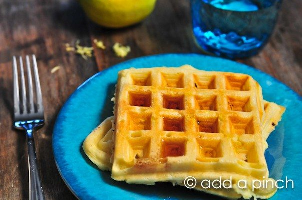 Lemon Buttermilk Waffles 4