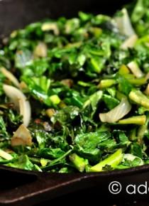 Spicy Skillet Turnip Greens Recipe