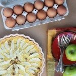 Eggstraordinary Spring Entertaining {Egg, Apple, Cheese and Sausage Tart Recipe}