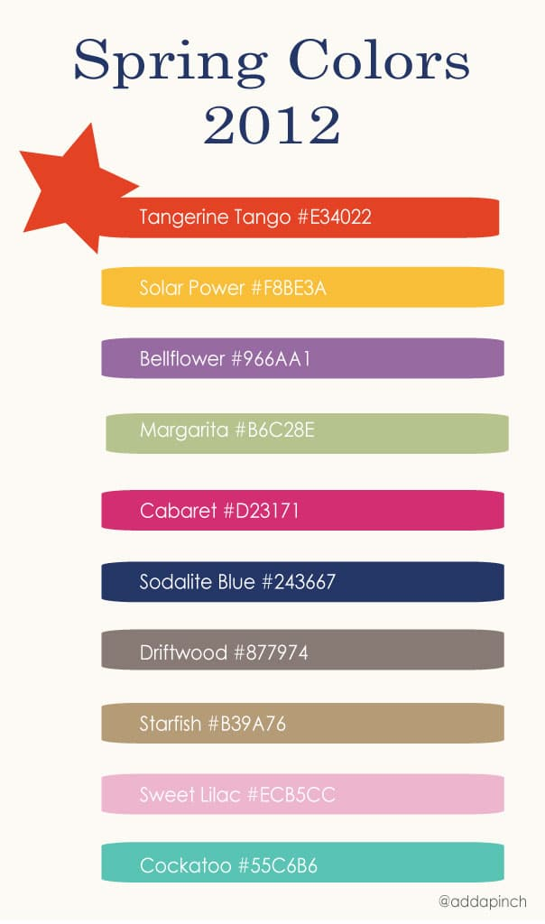 Spring 2012 Color Palatte