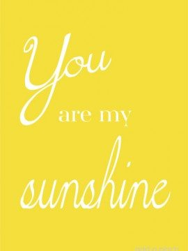 you are my sunshine printable {Mingle Monday}