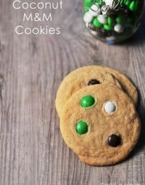 Coconut M&M Cookies