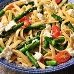 Spring Asparagus and Tomato Pasta with Feta Recipe
