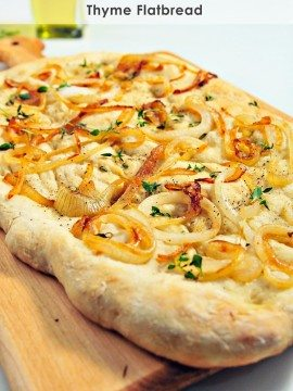 Caramelized Onion and Thyme Flatbread Recipe
