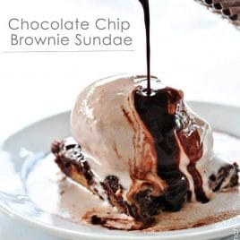 Chocolate Chip Brownie Sundae