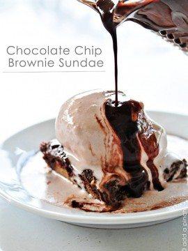 Chocolate Chip Brownie Sundae Recipe | Add a Pinch