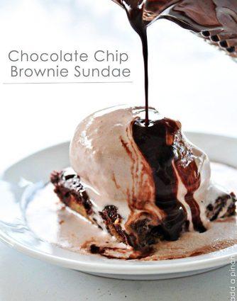 Chocolate Chip Brownie Sundae