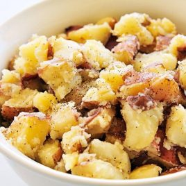 Buttered Potatoes Recipe - Buttered potatoes are a simple, classic, and comforting side dish recipe. // addapinch.com