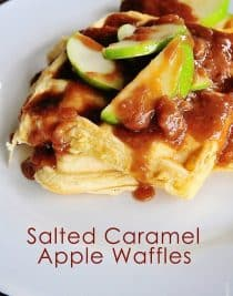 Salted Caramel Apple Waffles turn any morning into a great morning!
