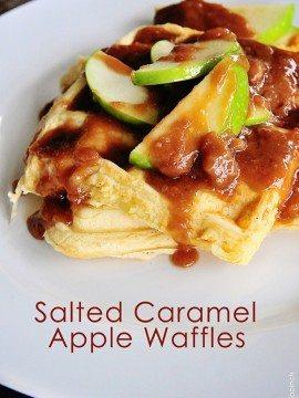 Waffle Recipe :: Salted Caramel Apple Waffle Recipe