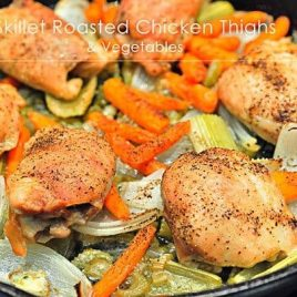 Skillet Roasted Chicken and Vegetables is an easy to prepare, one dish dinner recipe.